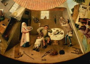 Hieronymous Bosch - Greed, Scene from the Table of the Seven Deadly Sins