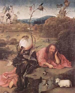 Hieronymous Bosch - St. John the Baptist in Meditation