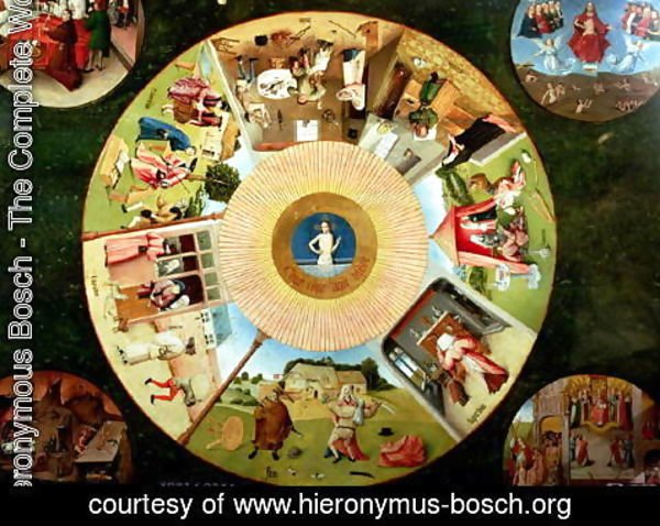 Hieronymous Bosch - Tabletop of the Seven Deadly Sins and the Four Last Things (2)