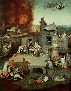 Hieronymous Bosch - Temptation of Saint Anthony   c.1500