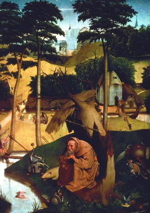 Hieronymous Bosch - Temptation of St. Anthony 1490