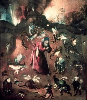 Hieronymous Bosch - Temptation of St. Anthony (4)
