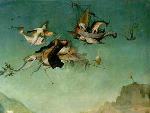 Hieronymous Bosch - Temptation of St.Anthony (detail of left hand panel)