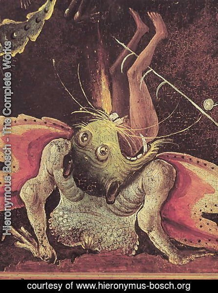 The Last Judgement (detail of a man being eaten by a monster) c.1504 | Hieronymous Bosch