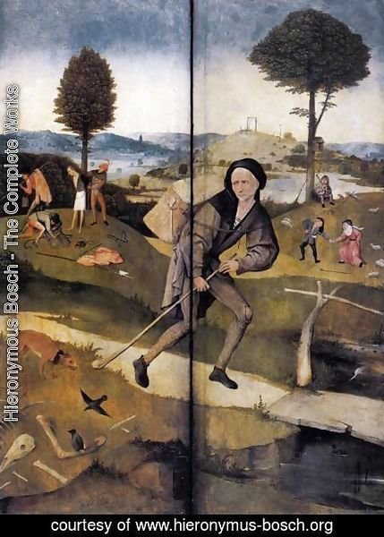 Hieronymous Bosch - The Path of Life, outer wings of a triptych