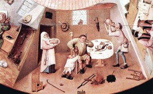 Hieronymous Bosch - The Seven Deadly Sins (detail 3)