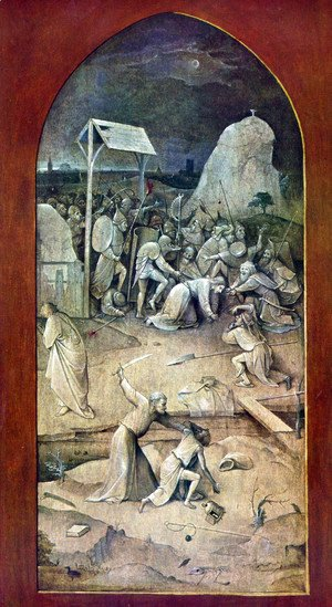 Hieronymous Bosch - Triptych of Temptation of St Anthony (outer left wing)