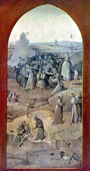 Hieronymous Bosch - Triptych of Temptation of St Anthony (outer right wing)