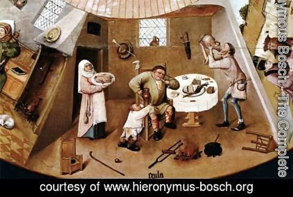 Hieronymous Bosch - The Seven Deadly Sins (detail) 2