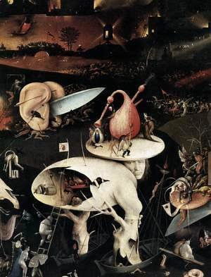 Hieronymous Bosch - Triptych of Garden of Earthly Delights (detail) 4
