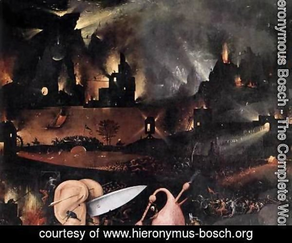 Hieronymous Bosch - Triptych of Garden of Earthly Delights (detail) 5