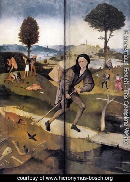 Hieronymous Bosch - Triptych of Haywain (outer wings)