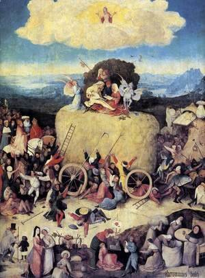 Hieronymous Bosch - Triptych of Haywain (central panel)