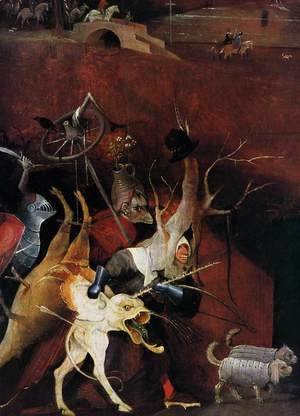 Hieronymous Bosch - Triptych of Temptation of St Anthony (detail)