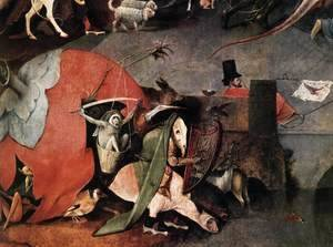 Hieronymous Bosch - Triptych of Temptation of St Anthony (detail) 7