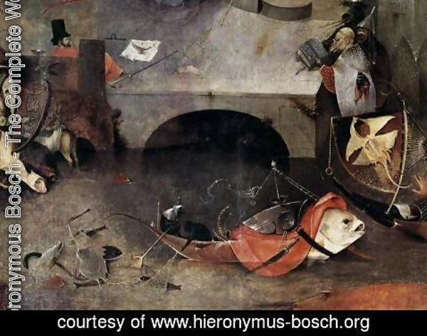 Hieronymous Bosch - Triptych of Temptation of St Anthony (detail) 8