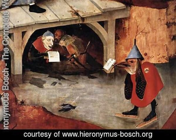 Hieronymous Bosch - Triptych of Temptation of St Anthony (detail) 9