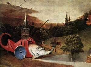Hieronymous Bosch - Triptych of Temptation of St Anthony (detail) 10