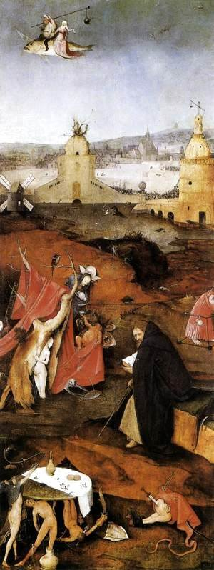 Hieronymous Bosch - Triptych of Temptation of St Anthony (right wing) 2