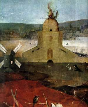 Hieronymous Bosch - Triptych of Temptation of St Anthony (detail) 12