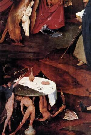 Hieronymous Bosch - Triptych of Temptation of St Anthony (detail) 14