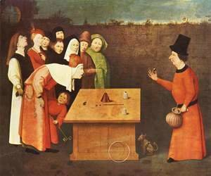 Hieronymous Bosch - The Conjurer. Alternate title(s) The Magician.
