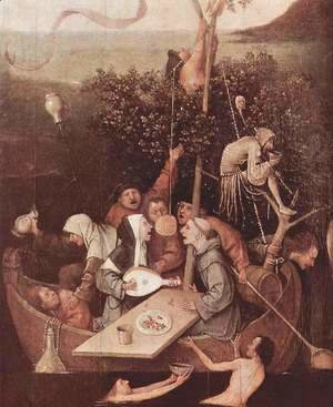 Hieronymous Bosch - The Ship of Fools [detail]