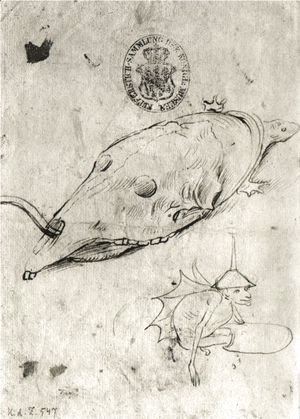 Hieronymous Bosch - Turtle and a winged demon