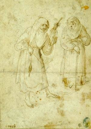 Hieronymous Bosch - Two witches 2