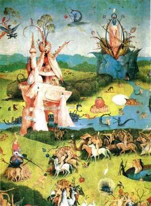 Hieronymous Bosch - The Garden of Earthly Delights (detail) 2