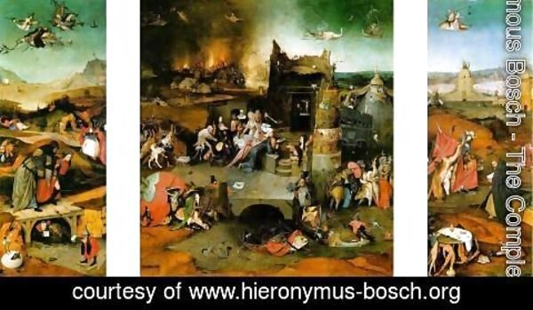 Hieronymous Bosch - Triptych The Temptation of St. Anthony
