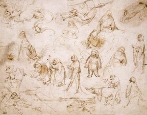 Hieronymous Bosch - Sketches for a Temptation of St. Anthony
