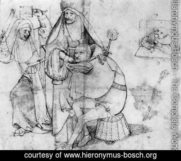 Hieronymous Bosch - A comical barber scene