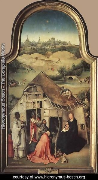 Hieronymous Bosch - Adoration of the Magi (central panel) c. 1510