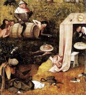 Hieronymous Bosch - Allegory of Gluttony and Lust