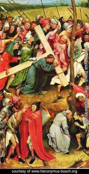 Hieronymous Bosch - Christ Carrying the Cross 1480s