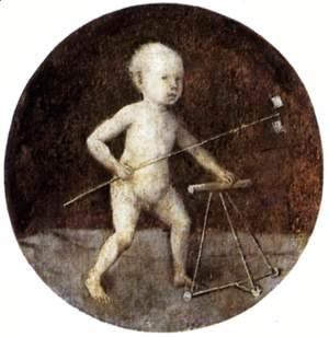 Hieronymous Bosch - Christ Child with a Walking Frame 1480s