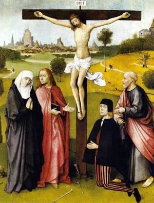 Hieronymous Bosch - Crucifixion with a Donor 1480-85