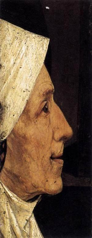 Hieronymous Bosch - Head of a Woman (fragment)