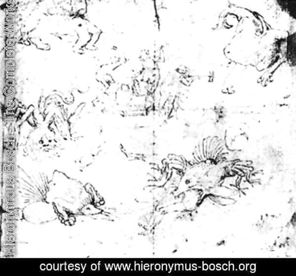 Hieronymous Bosch - Scenes in Hell