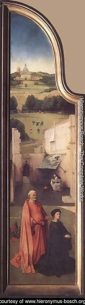 Hieronymous Bosch - St Peter with the Donor (left wing) c. 1510