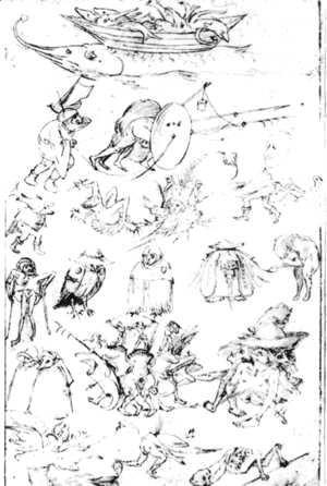 Hieronymous Bosch - Studies of Monsters - 2