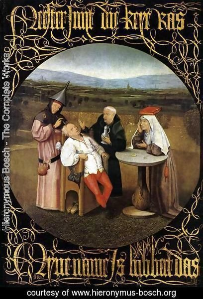 Hieronymous Bosch - The Cure of Folly (Extraction of the Stone of Madness) 1475-80