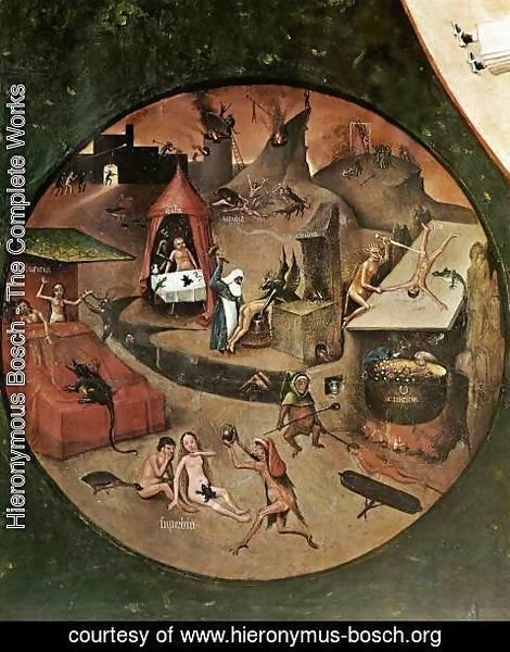 Hieronymous Bosch - The Seven Deadly Sins (detail 1) c. 1480