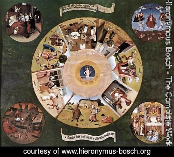 Hieronymous Bosch - The Seven Deadly Sins c. 1480