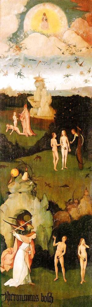 Hieronymous Bosch - Triptych of Haywain (left wing-2) 1500-02