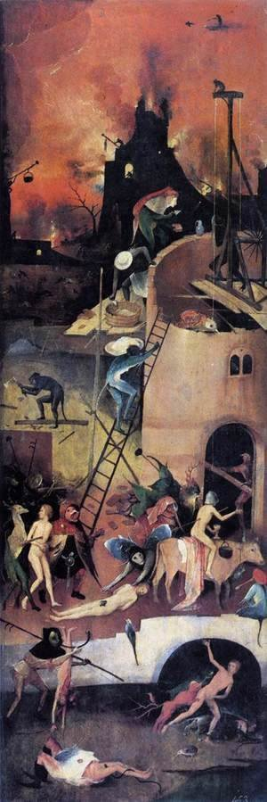Hieronymous Bosch - Triptych of Haywain (right wing-1) 1500-02