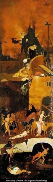 Hieronymous Bosch - Triptych of Haywain (right wing-2) 1500-02
