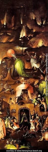 Hieronymous Bosch - Triptych of Last Judgement (right wing)