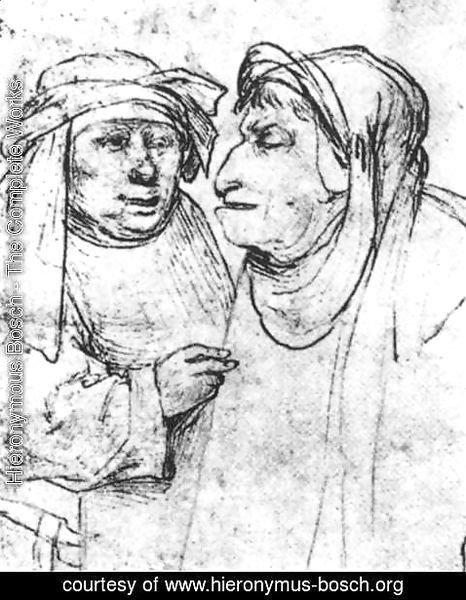 Hieronymous Bosch - Two Caricatured Heads